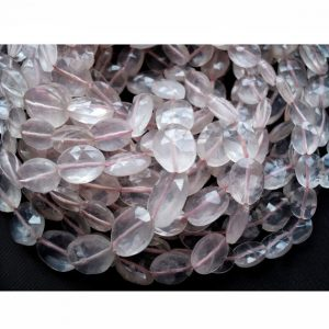 Shop Rose Quartz Faceted Beads! Rose Quartz Beads, Faceted Oval Beads, Gemstone Beads, 8x11mm Beads, 34 Pieces Approx, 13 Inch Strand | Natural genuine faceted Rose Quartz beads for beading and jewelry making.  #jewelry #beads #beadedjewelry #diyjewelry #jewelrymaking #beadstore #beading #affiliate #ad