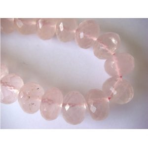 Shop Rose Quartz Faceted Beads! Rose Quartz – Rose Quartz Micro Faceted Rondelles – 8 Inch Strand – 38 Pieces – 8mm Each | Natural genuine faceted Rose Quartz beads for beading and jewelry making.  #jewelry #beads #beadedjewelry #diyjewelry #jewelrymaking #beadstore #beading #affiliate