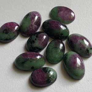 10x14mm – 10x16mm Ruby Zoisite Plain Oval Flat Back Cabochon, 5Pcs Natural Ruby Zoisite For Jewelry, Loose Ruby Zoisite Stones – ADG148 | Natural genuine stones & crystals in various shapes & sizes. Buy raw cut, tumbled, or polished gemstones for making jewelry or crystal healing energy vibration raising reiki stones. #crystals #gemstones #crystalhealing #crystalsandgemstones #energyhealing #affiliate #ad