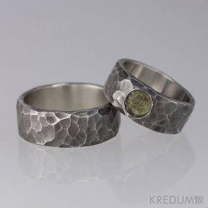 Shop Moldavite Jewelry! RUSTIC moldavite Wedding Ring, HAMMERED Womens Mens  handmade Stainless steel stone band, mens engagement band  – Draill with moldavite dark | Natural genuine Moldavite jewelry. Buy handcrafted artisan wedding jewelry.  Unique handmade bridal jewelry gift ideas. #jewelry #beadedjewelry #gift #crystaljewelry #shopping #handmadejewelry #wedding #bridal #jewelry #affiliate #ad