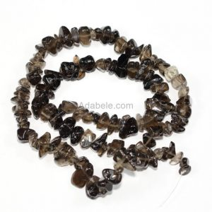 """Shop Smoky Quartz Chip & Nugget Beads! AAA Natural Smoky Quartz Gemstones Smooth Chips Beads Free-form Loose Beads ~8x5mm beads (1 strand, ~16"""") GZ1-18 