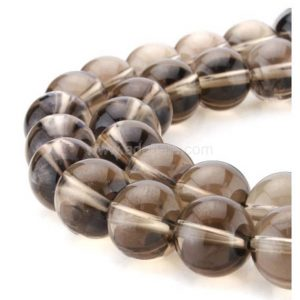 "U Pick Natural Smoky Quartz Gemstone Loose Beads 4mm 6mm 8mm 10mm Round Spacer Beads 15.5"" #GPB3"