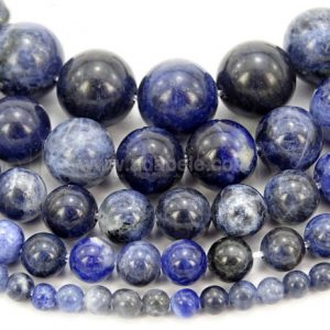 "Shop Sodalite Round Beads! You Pick Aaa Natural Sodalite Gemstone 4mm 6mm 8mm 10mm Loose Round Beads Spacer Beads 15.5"" (1 Strand) Gy6 