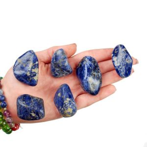Shop Tumbled Sodalite Crystals & Pocket Stones! Sodalite Tumbled Stone, Sodalite Tumbled Stones, Healing Sodalite Crystals, Sodalite Healing Stones, Ladiescrystals, Ladies Crystals | Natural genuine stones & crystals in various shapes & sizes. Buy raw cut, tumbled, or polished gemstones for making jewelry or crystal healing energy vibration raising reiki stones. #crystals #gemstones #crystalhealing #crystalsandgemstones #energyhealing #affiliate #ad