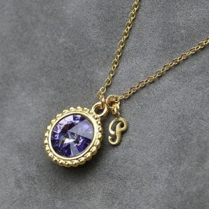 Shop Tanzanite Jewelry! December Birthstone Jewelry, Tanzanite Necklace, Personalized Initial Jewelry, Gold New Mother Initial Necklace | Natural genuine Tanzanite jewelry. Buy crystal jewelry, handmade handcrafted artisan jewelry for women.  Unique handmade gift ideas. #jewelry #beadedjewelry #beadedjewelry #gift #shopping #handmadejewelry #fashion #style #product #jewelry #affiliate #ad