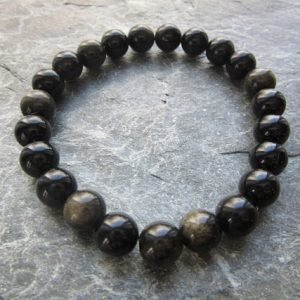Shop Rainbow Obsidian Bracelets! The pure rainbow obsidian bracelet! Stretch bracelet in natural rainbow obsidian beads genuine natural stone Reiki infused | Natural genuine Rainbow Obsidian bracelets. Buy crystal jewelry, handmade handcrafted artisan jewelry for women.  Unique handmade gift ideas. #jewelry #beadedbracelets #beadedjewelry #gift #shopping #handmadejewelry #fashion #style #product #bracelets #affiliate #ad