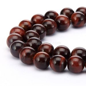 "Shop Tiger Eye Round Beads! You Pick Natural Red Tiger Eye Gemstone Beads 4mm 6mm 8mm 10mm Loose Round Beads 15.5"" (1 Strand) #22gsr 