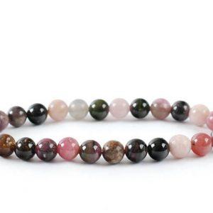 Shop Tourmaline Bracelets! 6mm Multicolored Tourmaline Bracelet, Stretch Multicolor Tourmaline Bracelets 6 mm, Tourmaline Pink, Black Tourmaline Bracelet,  Tourmaline | Natural genuine Tourmaline bracelets. Buy crystal jewelry, handmade handcrafted artisan jewelry for women.  Unique handmade gift ideas. #jewelry #beadedbracelets #beadedjewelry #gift #shopping #handmadejewelry #fashion #style #product #bracelets #affiliate #ad