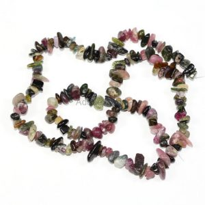 "Shop Tourmaline Chip & Nugget Beads! 32"" Aaa Natural Watermelon Tourmaline Gemstones Smooth Chips Beads Free-form Loose Beads ~8x5mm Beads (1 Strand, ~32"") Gz1-11 