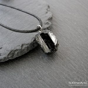 Shop Black Tourmaline Necklaces! Tourmaline pendant, Black unisex amulet necklace, electromagnetic field emf protection stone, Schorl jewellery, gift for him, men jewelry | Natural genuine Black Tourmaline necklaces. Buy crystal jewelry, handmade handcrafted artisan jewelry for women.  Unique handmade gift ideas. #jewelry #beadednecklaces #beadedjewelry #gift #shopping #handmadejewelry #fashion #style #product #necklaces #affiliate #ad