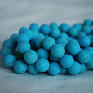 "Shop Turquoise Round Beads! High Quality Grade A Turquoise (dyed) – Matte – Semi-precious Gemstone Round Beads – 4mm, 6mm, 8mm, 10mm Sizes – Approx 16"" Strand 