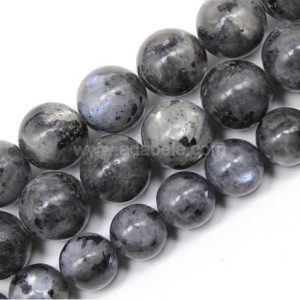 "Shop Labradorite Round Beads! You Pick Top Quality Natural Black Labradorite Gemstone 4mm 6mm 8mm 10mm Round Loose Beads 15.5"" #GF20 