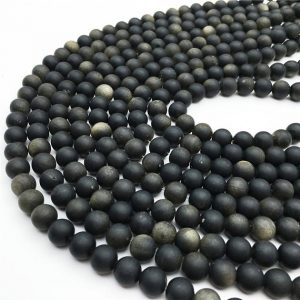 Shop Golden Obsidian Beads! 1 Full Strand Matte Golden Obsidian Beads ,  6mm 8mm 10mm 12mm Round Beads ,  Gemstone Beads | Natural genuine round Golden Obsidian beads for beading and jewelry making.  #jewelry #beads #beadedjewelry #diyjewelry #jewelrymaking #beadstore #beading #affiliate