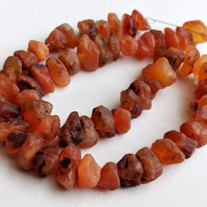 10-12mm Raw Carnelian Stones,  Natural Loose Raw Gemstone, Carnelian Rough Beads, Carnelian Nuggets 13 Inches (1 Strand To 5 Strands Option) | Natural genuine chip Carnelian beads for beading and jewelry making.  #jewelry #beads #beadedjewelry #diyjewelry #jewelrymaking #beadstore #beading #affiliate #ad