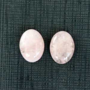 Shop Morganite Gemstones! 2 Pcs Natural Morganite Cabochon Oval 16x12mm | Natural genuine gemstones & crystals in various shapes & sizes. Buy raw cut or polished for making jewelry or crystal healing energy reiki stones. #crystals #gemstones #jewelry #product #diy #diyjewelry #shopping #crystalhealing #product