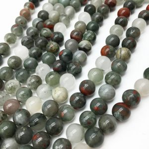 Shop Bloodstone Beads! 8mm 10 mm Bloodstone Beads , Gemstone Beads , Stone Beads , Gemstone jewelry , Beads , Findings , Supplies | Natural genuine round Bloodstone beads for beading and jewelry making.  #jewelry #beads #beadedjewelry #diyjewelry #jewelrymaking #beadstore #beading #affiliate #ad