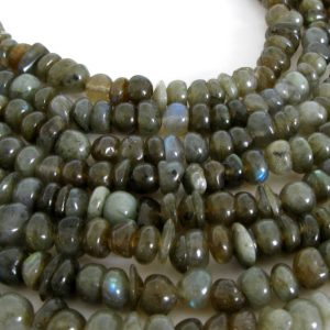 Shop Labradorite Rondelle Beads! 8mm Labradorite Rondelle Beads, Genuine Labradorite, Full Strand Labradorite, 15 Inch Strand, Smooth Rondelle Labradorite, Lab201 | Natural genuine rondelle Labradorite beads for beading and jewelry making.  #jewelry #beads #beadedjewelry #diyjewelry #jewelrymaking #beadstore #beading #affiliate #ad