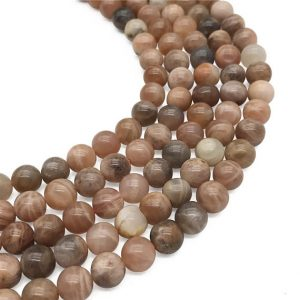 Shop Sunstone Round Beads! 8mm Natural Sunstone Beads, Round Gemstone Beads, Wholesale Beads | Natural genuine round Sunstone beads for beading and jewelry making.  #jewelry #beads #beadedjewelry #diyjewelry #jewelrymaking #beadstore #beading #affiliate #ad