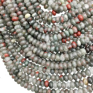 Shop Bloodstone Beads! 8x5mm Africa Bloodstone Rondelle Beads, Gemstone Beads, Wholesale Beads | Natural genuine rondelle Bloodstone beads for beading and jewelry making.  #jewelry #beads #beadedjewelry #diyjewelry #jewelrymaking #beadstore #beading #affiliate #ad