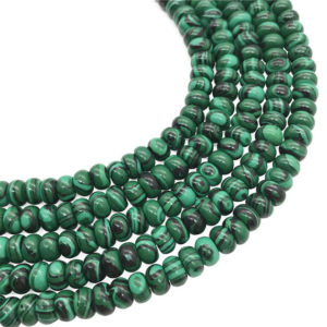 Shop Malachite Rondelle Beads! 8x5mm Malachite Rondelle Beads, Green Stone Beads, Gemstone Beads | Natural genuine rondelle Malachite beads for beading and jewelry making.  #jewelry #beads #beadedjewelry #diyjewelry #jewelrymaking #beadstore #beading #affiliate #ad
