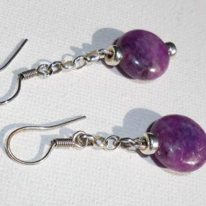 Shop Lepidolite Earrings! 925 sterling Silver and Lepidolite earrings | Natural genuine Lepidolite earrings. Buy crystal jewelry, handmade handcrafted artisan jewelry for women.  Unique handmade gift ideas. #jewelry #beadedearrings #beadedjewelry #gift #shopping #handmadejewelry #fashion #style #product #earrings #affiliate #ad