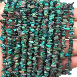"AAA Quality 16""Long Natural Chrysocolla Chips Beads,Uncut Chip Bead,4-6 MM,Polished Beads,Smooth Chrysocolla Chip Bead,Gemstone Wholesale 