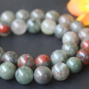 "Shop Bloodstone Beads! African Bloodstone Gemstone Round Beads,6mm 8mm 10mm 12mm African Bloodstone Beads,Gemstone Beads supply,15"" strand 