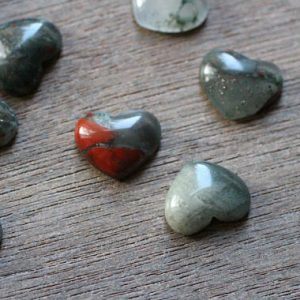African Bloodstone Small Stone Shaped Heart With Flat Back H100 | Natural genuine stones & crystals in various shapes & sizes. Buy raw cut, tumbled, or polished gemstones for making jewelry or crystal healing energy vibration raising reiki stones. #crystals #gemstones #crystalhealing #crystalsandgemstones #energyhealing #affiliate #ad