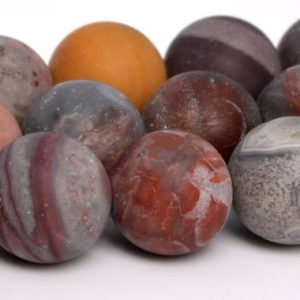 """Shop Crazy Lace Agate Beads! 10MM Matte Crazy Lace Agate Beads AAA Genuine Natural Gemstone Full Strand Round Loose Beads 15.5"""" BULK LOT 1,3,5,10,50 (105243-1484)   Natural genuine beads Agate beads for beading and jewelry making.  #jewelry #beads #beadedjewelry #diyjewelry #jewelrymaking #beadstore #beading #affiliate #ad"""