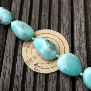 Shop Amazonite Chip Beads! Peruvian Amazonite 16-21mm pebble beads (ETB00780) | Natural genuine chip Amazonite beads for beading and jewelry making.  #jewelry #beads #beadedjewelry #diyjewelry #jewelrymaking #beadstore #beading #affiliate
