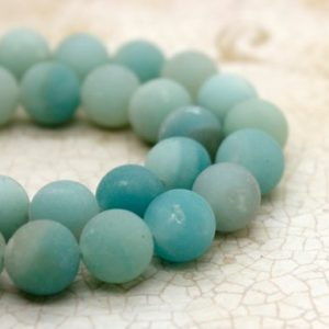 Shop Amazonite Round Beads! Natural Amazonite Matte Round Sphere Natural Gemstone Loose Beads (4mm 6mm 8mm 10mm) | Natural genuine round Amazonite beads for beading and jewelry making.  #jewelry #beads #beadedjewelry #diyjewelry #jewelrymaking #beadstore #beading #affiliate #ad