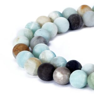 "Shop Amazonite Round Beads! Multi-Color Amazonite Matte Round Beads 4mm 6mm 8mm 10mm 12mm-16mm 15.5"" Strand 