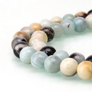 Shop Amazonite Round Beads! U Pick Top Quality Natural Multi Colors Amazonite Gemstone 4mm 6mm 8mm 10mm Round Loose Bead 15 inch Per Strand for Jewelry Craft Making GF3 | Natural genuine round Amazonite beads for beading and jewelry making.  #jewelry #beads #beadedjewelry #diyjewelry #jewelrymaking #beadstore #beading #affiliate #ad
