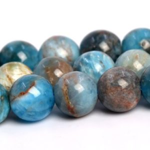 "Shop Apatite Round Beads! 5MM Apatite Beads Grade AB Genuine Natural Gemstone Full Strand Round Loose Beads 15.5"" BULK LOT 1,3,5,10 and 50 (106181-1869) 