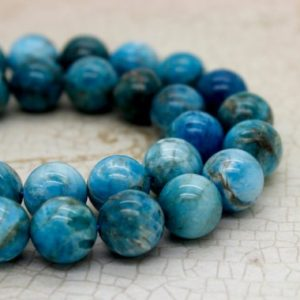 Apatite Round Gemstone Beads (6mm 8mm 10mm 12mm) | Natural genuine beads Apatite beads for beading and jewelry making.  #jewelry #beads #beadedjewelry #diyjewelry #jewelrymaking #beadstore #beading #affiliate #ad