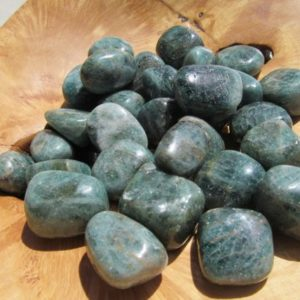 Shop Tumbled Apatite Crystals & Pocket Stones! Apatite Medium Tumbled Stone T6 | Natural genuine stones & crystals in various shapes & sizes. Buy raw cut, tumbled, or polished gemstones for making jewelry or crystal healing energy vibration raising reiki stones. #crystals #gemstones #crystalhealing #crystalsandgemstones #energyhealing #affiliate #ad