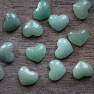 Aventurine Small Heart Stone with Flat Back K259 | Natural genuine stones & crystals in various shapes & sizes. Buy raw cut, tumbled, or polished gemstones for making jewelry or crystal healing energy vibration raising reiki stones. #crystals #gemstones #crystalhealing #crystalsandgemstones #energyhealing #affiliate #ad