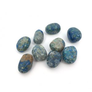 "Blue Azurite Beads, Freeform Loose Gemstone Beads, Nugget Beads, Natural Stone Beads, Jewelry Making Beads, 15"" Strand, PS089 