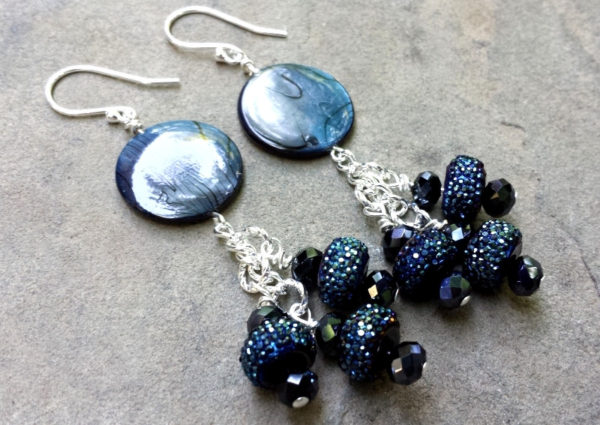 Blue Shell Earrings Project