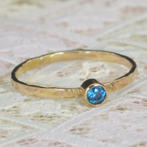 Shop Zircon Rings! Blue Zircon Engagement Ring,14k Gold, Blue Zircon Wedding Ring Set, Rustic Wedding Ring Set, December Birthstone, Solid 14k Blue Zircon Ring | Natural genuine Zircon rings, simple unique alternative gemstone engagement rings. #rings #jewelry #bridal #wedding #jewelryaccessories #engagementrings #weddingideas #affiliate #ad