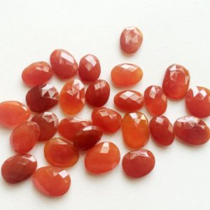 Shop Carnelian Cabochons! 13-19mm Carnelian Orange Chalcedony Rose Cut Cabochon, Orange Flat Back Oval Cabochon For Jewelry (5Pcs To 10cs Options) – KRS269 | Natural genuine stones & crystals in various shapes & sizes. Buy raw cut, tumbled, or polished gemstones for making jewelry or crystal healing energy vibration raising reiki stones. #crystals #gemstones #crystalhealing #crystalsandgemstones #energyhealing #affiliate #ad