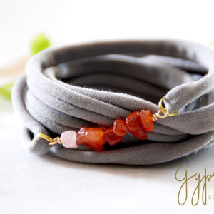 Shop Carnelian Bracelets! Carnelian Raw Gemstones Wrap Wrist Cuff Light Grey Stretch Wrist Bracelet Fashion accessory Women Teens Wrist Tattoo Cover Wrap Bracelet | Natural genuine Carnelian bracelets. Buy crystal jewelry, handmade handcrafted artisan jewelry for women.  Unique handmade gift ideas. #jewelry #beadedbracelets #beadedjewelry #gift #shopping #handmadejewelry #fashion #style #product #bracelets #affiliate #ad
