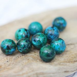Shop Chrysocolla Round Beads! Chrysocolla Round Beads Fabulous Tones 4, 8 or 10 mm Turquoise Green Blue Gemstone Beads / Crysocolla Beads Chrysocolla rounds beads  Rustic | Natural genuine round Chrysocolla beads for beading and jewelry making.  #jewelry #beads #beadedjewelry #diyjewelry #jewelrymaking #beadstore #beading #affiliate #ad