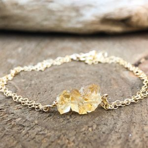Shop Dainty Jewelry! Dainty Raw Citrine Bracelet or Anklet in Silver or Gold – Citrine Bar Bracelet – Beach Anklet Women – Dainty Gold Anklet – Delicate Bracelet | Natural genuine Gemstone jewelry. Buy crystal jewelry, handmade handcrafted artisan jewelry for women.  Unique handmade gift ideas. #jewelry #beadedjewelry #beadedjewelry #gift #shopping #handmadejewelry #fashion #style #product #jewelry #affiliate #ad