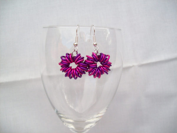 Simple Pink O-Ring Earrings Project