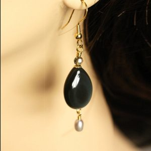 Shop Rainbow Obsidian Earrings! Dark Rainbow   —   Rainbow Obsidian Earrings With Freshwater Pearls And Crystals – Dangle Earrings | Natural genuine Rainbow Obsidian earrings. Buy crystal jewelry, handmade handcrafted artisan jewelry for women.  Unique handmade gift ideas. #jewelry #beadedearrings #beadedjewelry #gift #shopping #handmadejewelry #fashion #style #product #earrings #affiliate #ad