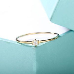 Shop Diamond Rings! Minimalist engagement ring Solitaire Simple Engagement ring 14k Gold Diamond Thin Dainty wedding women Stacking Bridal Jewelry Promise gift | Natural genuine Diamond rings, simple unique alternative gemstone engagement rings. #rings #jewelry #bridal #wedding #jewelryaccessories #engagementrings #weddingideas #affiliate #ad