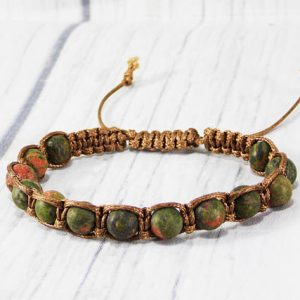 Father day gift for men bracelet for him jewelry unisex bracelet Unakite bracelet gemstone bracelet unakite jewelry shamballa bracelet mens | Natural genuine Gemstone bracelets. Buy handcrafted artisan men's jewelry, gifts for men.  Unique handmade mens fashion accessories. #jewelry #beadedbracelets #beadedjewelry #shopping #gift #handmadejewelry #bracelets #affiliate #ad