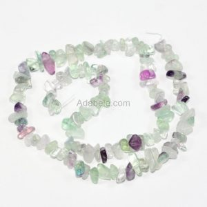 U Pick Top Quality Natural Multi Colors Fluorite Gemstones Chip Beads Free-form Gems Stone Bead 33 Inch Per Strand For Jewelry Making Gz1-14 | Natural genuine chip Fluorite beads for beading and jewelry making.  #jewelry #beads #beadedjewelry #diyjewelry #jewelrymaking #beadstore #beading #affiliate #ad