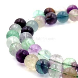 "U Pick Top Quality Natural Fluorite Gemstone 6mm 8mm 10mm Round Loose Beads 15.5"" (1 strand) #GY29 